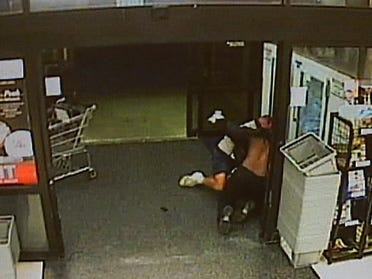 Customer nabs gunman