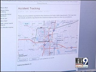 Traffic Accidents Tool Added to City Web Site