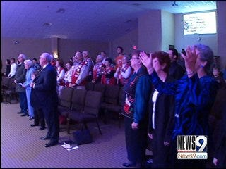 New Church Holds First Service After Fire