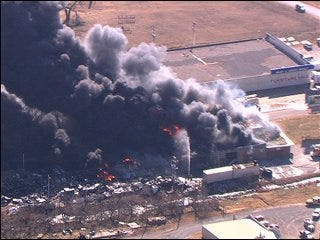 Norman tire company up in smoke Tuesday