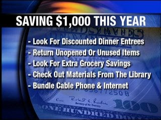 Little changes add up to large savings