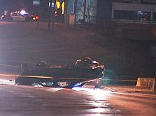 Shooting leads to rollover crash
