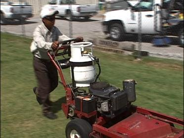 Company converts mowers to run on propane