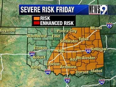 Severe storms possible Thursday evening through Friday
