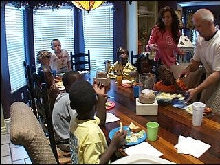 Full house for family of 15 provides lots of love