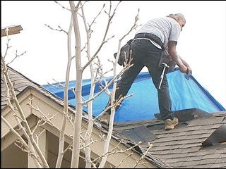 Edmond residents survey tornado damage