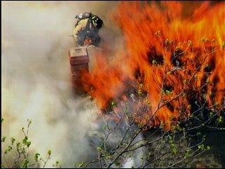 Firefighters battle blaze in south OKC home