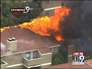 Apartment fire leaves 8 families seeking shelter