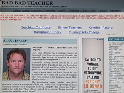 Web Site Keeping Tabs on the Country's 'Bad' Teachers