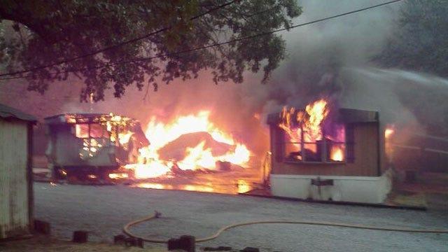 Edmond Grassfire Burns Structures, Shuts Down Highway