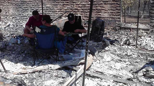 Edmond Wildfire Victims Deal With Reality After Fire