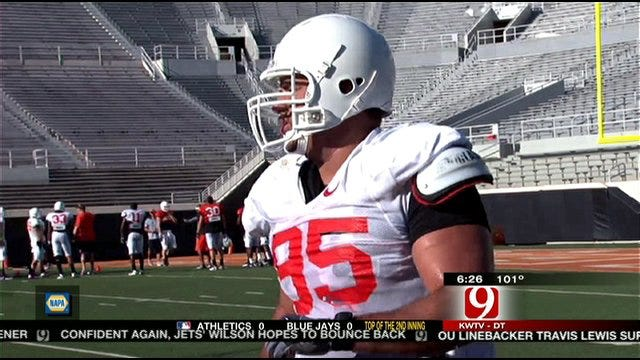 OSU Players Practice In Full Pads For First Time