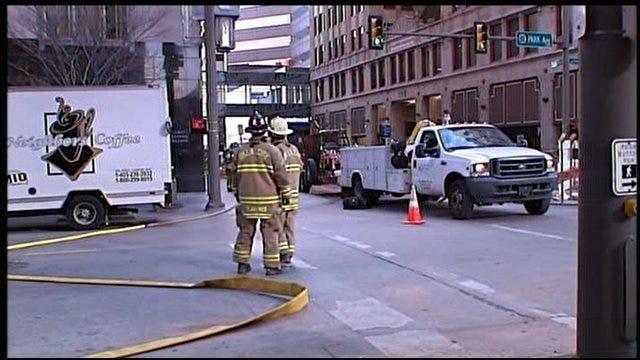 Construction Crews Rupture Gas Line In Downtown OKC