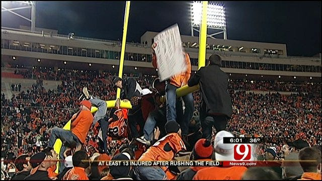 Oklahoma State Fans Injured Celebrating Bedlam Win