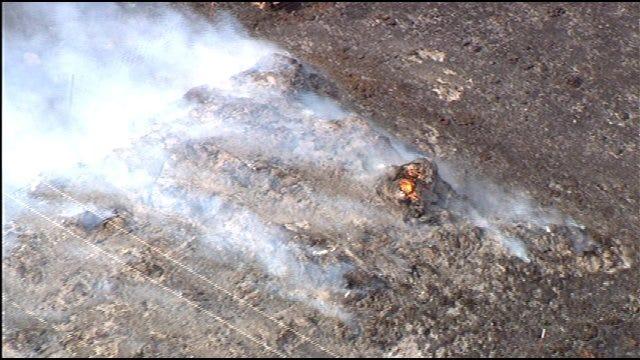 Crews Battle Grass Fire Near Blanchard