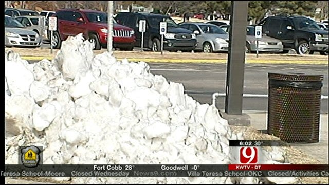 Tinker AFB, Schools Get Help With Snow Removal From County Crews