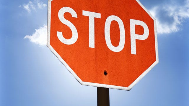 8-Year-Old Woodward Boy Sticks Tongue To Stop Sign Pole, Gets Stuck