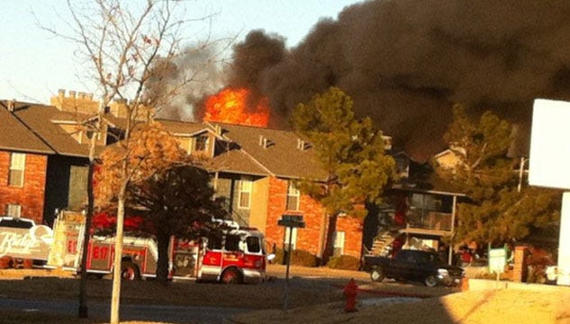 Several Families Displaced After Large Apartment Fire In Northwest OKC