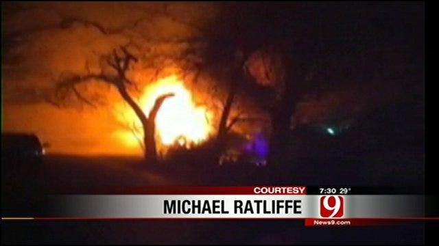 Fire Tears Through Northwest Oklahoma City Home