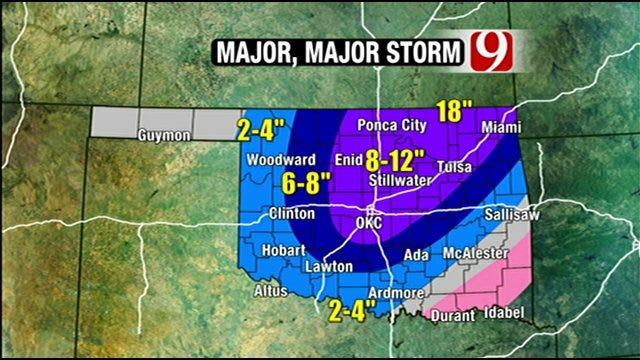Blizzard Intensifies Across Oklahoma