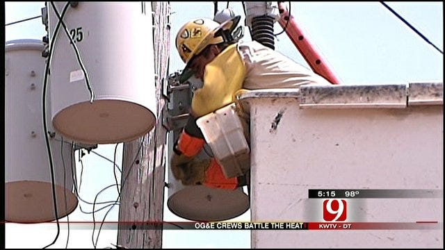 Extreme Heat Keeps Oklahoma Line Crews Busy