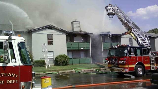Bethany, Warr Acres Firefighters Battle Apartment Blaze