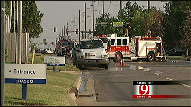 Gas Leak Forces Evacuations Near OKC Intersection