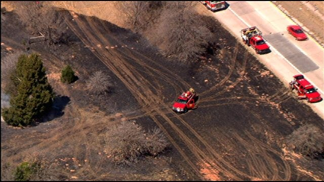 Several Grassfires Reported Along I-40 In Oklahoma County