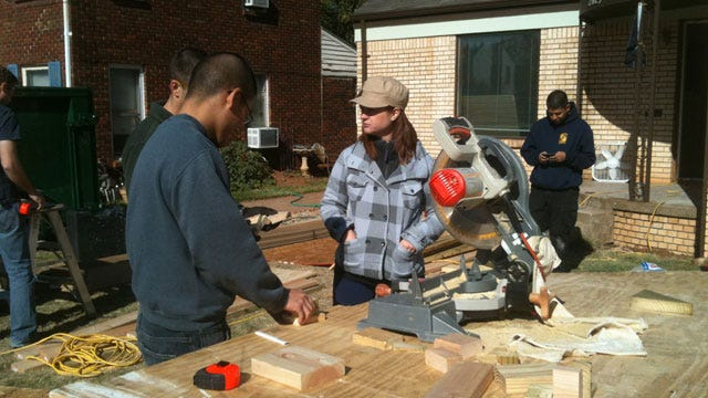 OKC Soldiers Fix Fellow Veteran's Home On Veterans Day