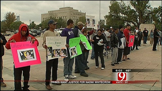 Tribal Members Rally In Support Of Naomi Whitecrow