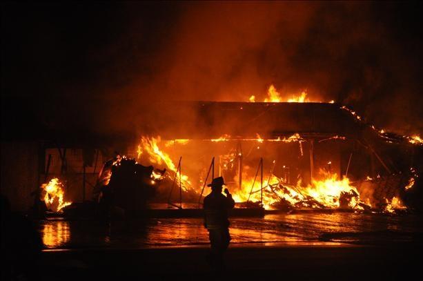 Davis Fire Damages Wrecker Service
