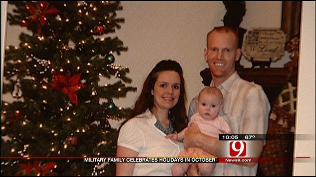Oklahoma Soldier's Family Celebrates Year's Worth Of Holidays In 2 Weeks
