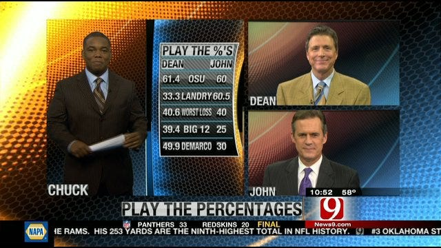Play the Percentages: Oct. 23, 2011