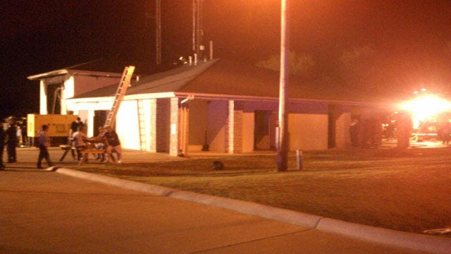 Crews Extinguish Blaze At Police Station In Perkins