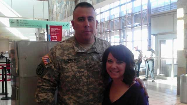Injured Payne County Soldier Receives Surprise, Large Welcome Home