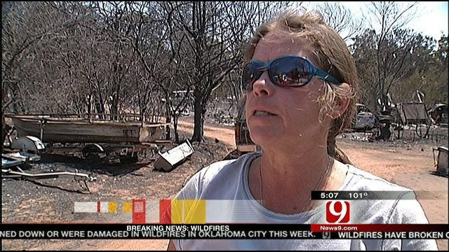 Uninsured Homeowner Loses Everything In Oklahoma City Wildfire