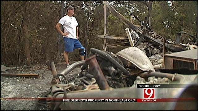 Residents Assess Damage In Fire-Ravaged Oklahoma City