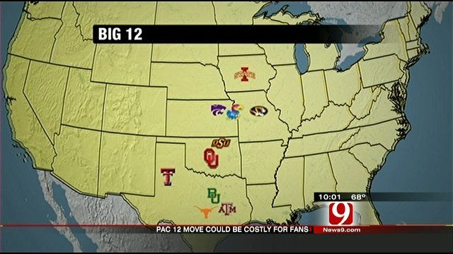 Conference Realignment Could Mean More Travel For Oklahoma Big 12 Fans