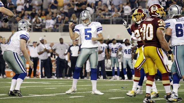 Dan Bailey Ties Rookie Record, Gives Cowboys 18-16 Win