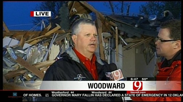 News 9 Stormtracker Talks About Tracking Tornado In Woodward