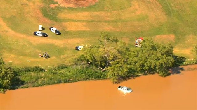 Man Critically Injured After Crashing Pickup Into Pond In Northwest OKC