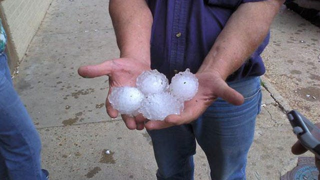 Hail-Packing Storm System Riddles Woodward County