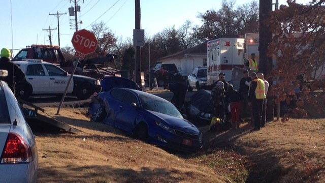Emergency Crews Respond To Rollover Accident In NE OKC