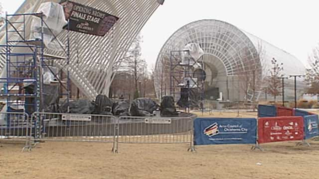 OKC Crews Make Last Minute Preps For 'Opening Night'