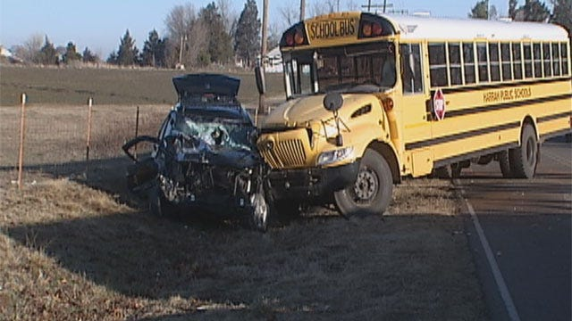 Children Injured In Harrah School Bus Crash