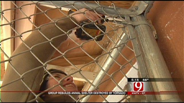 Volunteer Group Helps Rebuild Guthrie Animal Shelter