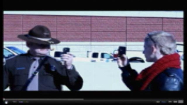 Trooper's Confrontation With Protester Turns Physical