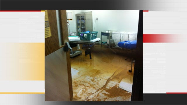Broken Water Line Causes Significant Water Damage To Midwest City Heart Hospital