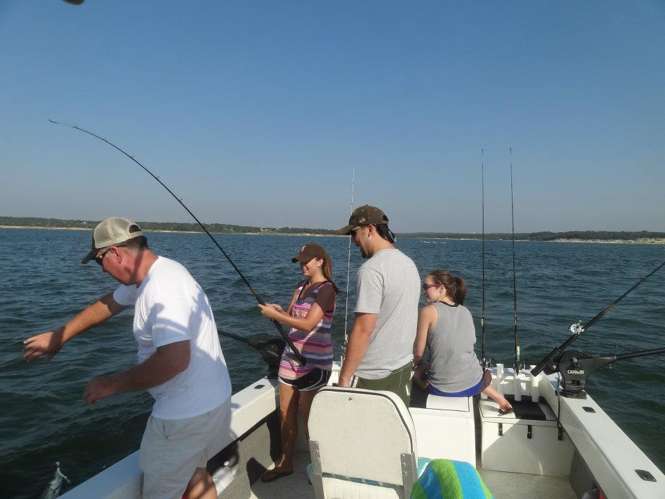Hooked on Texoma Stripers