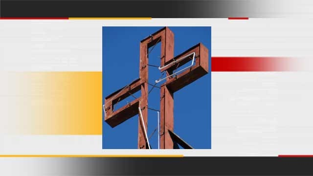 Mercy Cross Found At Oklahoma City Scrapyard